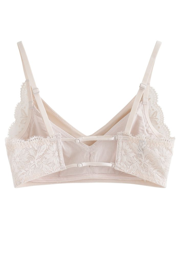 Inserted Cami Bra Top in Nude Pink