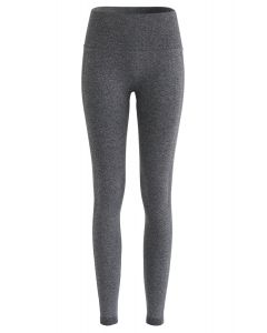 Butt Lift High-Rise Fitted Leggings in Grey