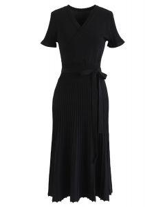 Effortless Charming Knit Dress in Black