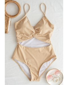Twist Cutout Front Cami One-Piece Swimsuit