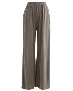 Normcore Side Pockets Lounge Pants in Brown
