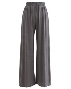 Cozy Straight Leg Knit Pants in Grey