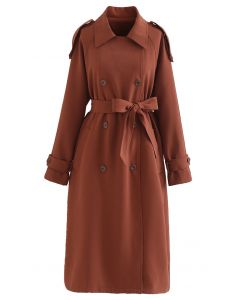 Infinite Trend Double-Breasted Longline Coat