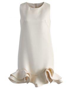 Silky Fragrance Night Peplum Shift Dress