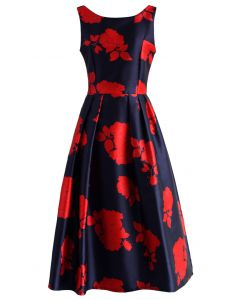 Rose Impression Prom Dress in Navy
