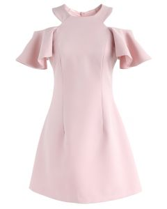 Twirling Into the Weekend Cold-Shoulder Dress in Pink