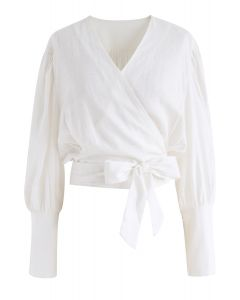 Eternal Classical Wrapped Top in White