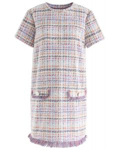 Counts a Lot to Me Tassel Trimming Shift Dress