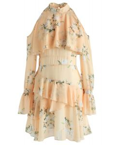Gardenia Impress Cold-Shoulder Chiffon Dress