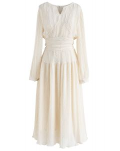 The Beach Vibe Chiffon Dress in Cream