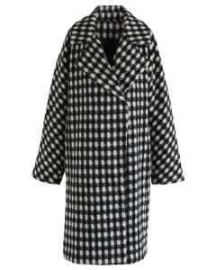 Young and Beautiful Houndstooth Longline Coat