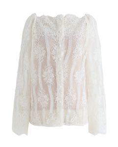 Incredible Feeling Embroidered Organza Top