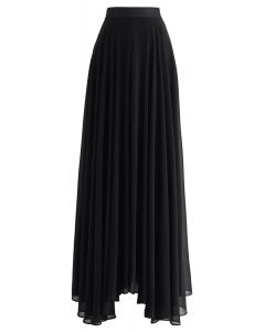 Timeless Favorite Chiffon Maxi Skirt in Black