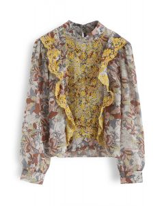Bright and Bold Floral Smock Top