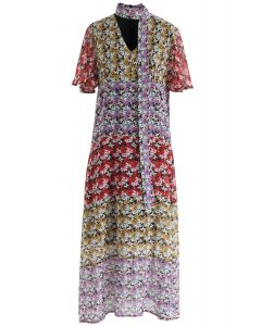 Meet Me In Flower Land Chiffon Dress