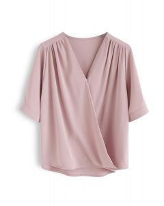 Forever Chic Wrap Top in Pink