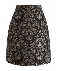 Golden Bouquet Jacquard Bud Skirt