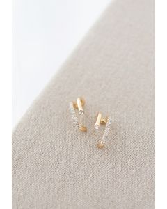 Crystal Trim Geometric Earrings