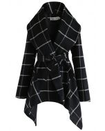 Prairie Grid Rabato Coat in Black